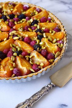 Apricot Raspberry Tart with Blackberries and Pistachios ~Baking Chez ...
