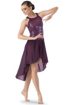 Weissman® | Dress w/ High-Low Georgette Skirt