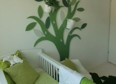 babykamer groen wit Spoiled Rotten, Little Ones, Kids Room, Nursery, Decoration, Bed, Furniture, Home Decor, Decor