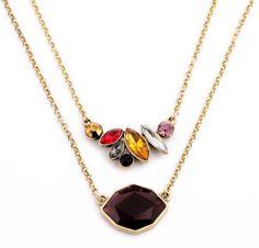 Faashion Ladies Favorite Elegant Clavicle Colorful Rhinestone Choker Necklace  #PendantNecklaces