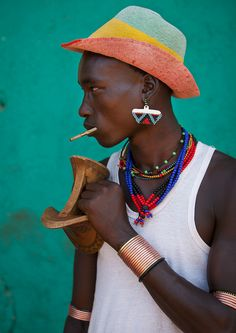 Hamar tribe man, Omo Valley, Ethiopia, by Eric Lafforgue.
