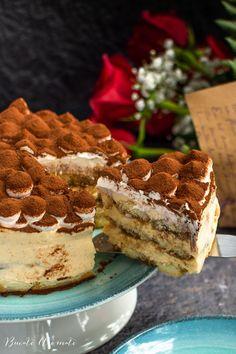 Tort Tiramisu – rețeta clasică, cu ouă fierte la abur Caramel, Cheesecake, Food Platters, Food Cakes, Sans Gluten, Cake Recipes, Deserts, Ethnic Recipes, Food Recipes