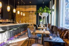 This small design hotel (11 rooms) is set above a popular restaurant and bar in Utrecht's historical city centre. Previously Hotel Dom. Keep It Simple, Utrecht, Netherlands, Bar, Design Hotel, Table, Furniture, Centre, Restaurants