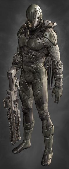 Future space soldier armour suit