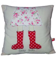 Shabby chic adorable and cute Bossy Boots by cottonmoondesign, £20.99