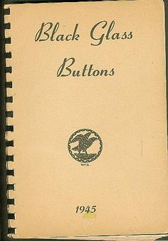 ButtonArtMuseum.com - Book Black Glass Buttons