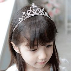 New Fashion Cute Rhinestone Princess Girls Crystal Wedding Crown Headband Tiara #>=#>=#>=#>=#> Click on the pin to check out discount price, color, size, shipping, etc. Save and like it!