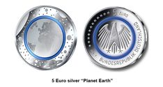 "Germany won the 2018 Krause Coin of the Year Award for coins dated 2016. The winner is the 5 Euro silver ""Planet Earth"" coin with the new polymer ring technology."