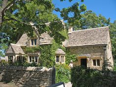 Greenfield Village - Cotswold Cottage (and the roof and fence is completely made of stone!!)
