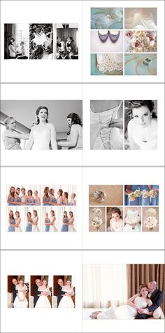 album layout ideas. pastel colours and black and white photos in one album can work.