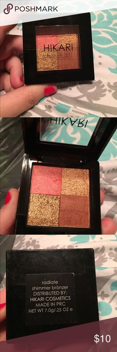Hikari Blush & Bronzer combo A blend of bronzer and blush, great for contouring. I love this product, but it is too dark for my skin tone. Hikari Makeup Bronzer