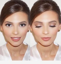 Super bridal party makeup make up eye shadows ideas Soft Bridal Makeup, Wedding Makeup For Brown Eyes, Natural Wedding Makeup, Wedding Hair And Makeup, Natural Makeup, Bridesmaid Makeup Natural, Simple Wedding Makeup, Beach Wedding Makeup, Engagement Photo Makeup