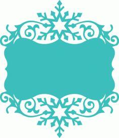 Silhouette Design Store - View Design #69016: winter snowflake flourish frame