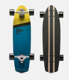 """City Cruiser 95.00 EUR (deck) 170.00 EUR (set)  Stripped down and built back up. jam out with a kick tail boardwalk friend and get ready to forge a new ground around the block trail  Function: Carving, Cruising, City Cruising Features: Concave - 0.25/0.4, Kick Tail, Precision Cutaway Shape Material: Two layers of fiberglass, five layers of Alp beech Length: 28.7 """" Width: 7.7 """" Thickness: 1/3"""" Grip: D2 - cut griptape Set: deck + trucks: Vault 6"""" / wheels Vault: 62x46mm / bearings: Abec 7"""
