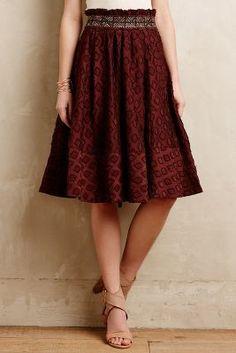 Maeve Diamond-Cut Skirt