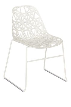 ZACH Dining room chairs White Plastic