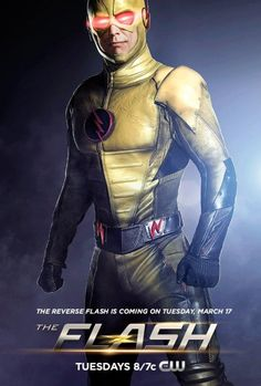 Until now, we've only seen the Reverse Flash moving, blurred, or in unofficial photos from the set of the TV show. Now CW has released an official poster.