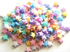 20 Pastel Acrylic Star Beads by kraftysian on Etsy