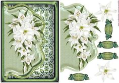 Envelop Sympathy Lilies on Craftsuprint designed by Marijke Kok - Beautiful envelop sympathy design with lilies - Now available for download!