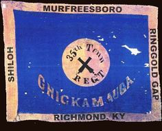 35th Tennessee Infantry flag Civil War Flags, Civil War Art, Confederate States Of America, Confederate Flag, War Image, Civil War Photos, American Civil War, Tennessee, Shiloh