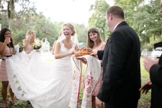The Russian wedding bread ceremony has the bride and groom tear off a piece of bread at the same time. Whoever has a bigger piece is dominant in the relationship.
