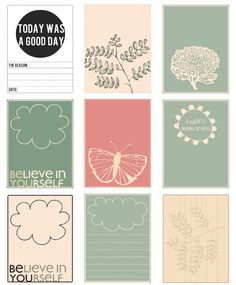 free project life journal cards - by sansku, @Alisha Wielfaert thought of you when I saw these