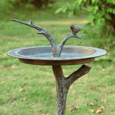 SPI Bird & Twig Birdbath / Sundial - 33303