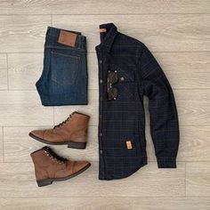 Flannel Outfits, Casual Outfits, Men Casual, Fashion Outfits, Outfits Hombre, Mens Clothing Styles, Instagram, Mens Fashion, Photo And Video