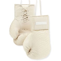 Elisabeth Weinstock Python Boxing Gloves ($1,575) ❤ liked on Polyvore featuring cream and home desk accessories