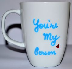 "Grey's Anatomy Mug ""You're My Person"" Valentines Day Gifts For Him, Be My Valentine, Valentine Ideas, Greys Anatomy Mug, Grey's Anatomy, Cute Gifts, Best Gifts, Diy Gifts, Surprise Gifts For Him"