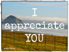I appreciate YOU! Learn more about Encouraging/Uplifting words @ www.BeingtheShift.com