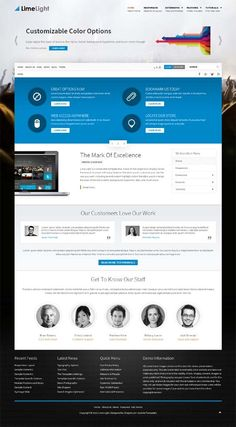 Lime Light, Joomla Retina Business Template by Premium Themes, via Behance