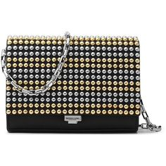 Michael Kors Collection Small Studded Leather Crossbody Clutch ($316) ❤ liked on Polyvore featuring bags, handbags, clutches, purses crossbody, leather purses, leather cross body purse, michael kors purses and handbags clutches