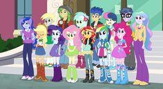 #1664568 - applejack, bon bon, cropped, derpy hooves, equestria girls, flash sentry, fluttershy, friendship games, humane five, lyra heartstrings, microchips, pinkie pie, princess celestia, princess luna, principal celestia, rainbow dash, rarity, right there in front of me, safe, screencap, sunset shimmer, sweetie drops, vice principal luna - Derpibooru - My Little Pony: Friendship is Magic Imageboard