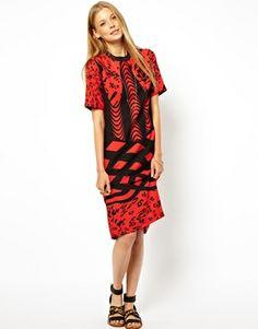 Image 4 ofASOS Monoclash Print Tee Dress