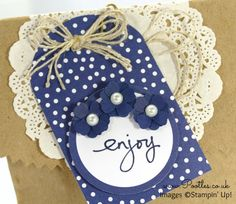Endless Birthday Wishes, Tag A Bag Accessory Kit, Itty Bitty Accents Punch Pack, Pearls, Kraft Tag A Bag Gift Bags - video on blog
