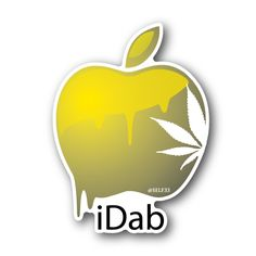 iDab - Apple With Weed Leaf Vinyl Sticker Sticker Ideas, Sticker Vinyl, Decals, Smoke Drawing, Leaf Drawing, Marijuana Art, Cannabis, Weed Art, High Times