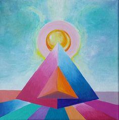 tetaedro /arte que sana/sacredgeometry.  lorena carreño