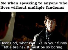 One can exist without multiple fandoms?