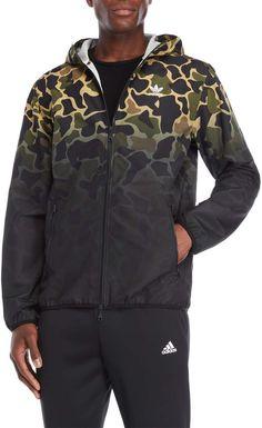 adidas Camouflage Hooded Windbreaker Jacket Капюшоны 48c81f9cf31d2