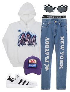 Sans titre #658 by a4styled on Polyvore featuring Gosha Rubchinskiy, adidas Originals, Dsquared2, men's fashion and menswear