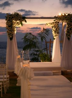Gorgeous sunset wedding