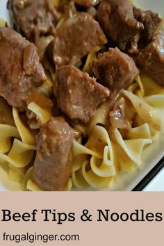 This is an easy and cheap slow cooker recipe that the whole family will love. Try this 4 ingredient meal for the crock pot, Beef Tips & Noodles. beef recipes Easy Slow Cooker Beef Tips & Noodles Recipe Beef And Noodles Crockpot, Beef Tips And Noodles, Beef Tip Recipes, Beef Recipes For Dinner, Cooking Recipes, Crock Pot Beef Tips, Recipes For Stew Meat, Family Recipes, Healthy Recipes
