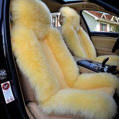 Seat Cushions Car Cushion Sheepskin Covers Yellow Cars Amazon Colour Seats Color