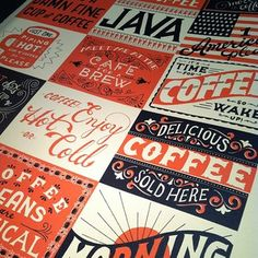 love coffee and of course stylish fonts