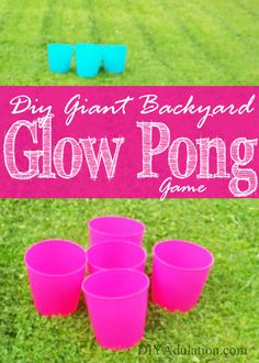 This super fun DIY giant backyard glow pong game is the perfect break for busy families to get outside and have some fun together! Find out how to play now!