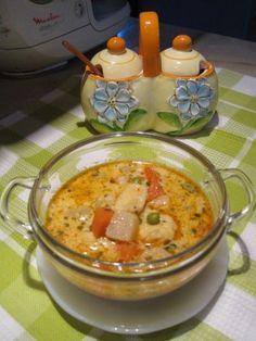 Sajtos - tejszínes zöldségleves - Katharosz konyhája - ételek és sütemények képekkel