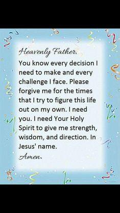 I Need You, As You Like, Give It To Me, Give Me Strength, Forgive Me, Challenge Me, Heavenly Father, Names Of Jesus, I Tried