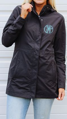 NEW Monogrammed Hamptons Rain Jacket at Marleylilly.com! This rain jacket comes in three beautiful colors, and has a sleek, feminine fit! For anyone looking for a longer rain jacket, this one is for you! Get yours personalized now at Marleylilly.com!