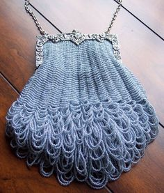 Beaded Knitted Evening Bag